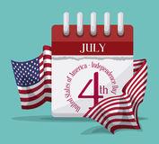 Independence day design. Stock Images