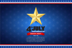 Independence day design element background Stock Photography