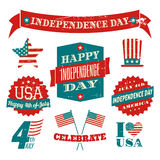 Independence Day Design Elements Collection Stock Images