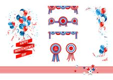 Independence day design elements Royalty Free Stock Photos