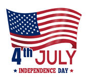 Independence Day design with the US flag. 4th Jul. Independence Day design. Poster design with the US flag. 4th July. Independence Day card. American Flag Royalty Free Stock Photo