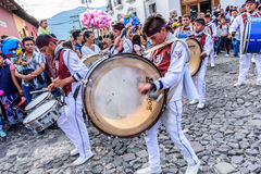 Independence Day drummers, Antigua, Guatemala Royalty Free Stock Photo
