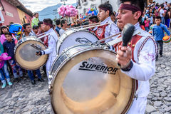 Independence Day drummers, Antigua, Guatemala Stock Images