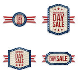 Independence Day festive Labels Set. Vector Illustration Royalty Free Stock Image