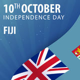 Independence day of Fiji. Flag and Patriotic Banner. Royalty Free Stock Photography