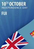 Independence day of Fiji. Flag and Patriotic Banner. Stock Images