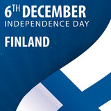 Independence day of Finland. Flag and Patriotic Banner. Independence day of Finland. Flag and Patriotic Banner Royalty Free Stock Photography