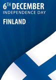 Independence day of Finland. Flag and Patriotic Banner. Independence day of Finland. Flag and Patriotic Banner Royalty Free Stock Images