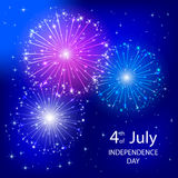 Independence day firework Royalty Free Stock Image