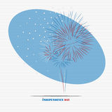 Independence day firework. Fourth of july, independence day firework for your design vector illustration