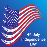 Independence_Day_flag Royalty Free Stock Photography
