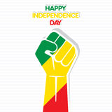 Independence Day Flag  design. Independence Day Flag of the Republic of Congo hand design Royalty Free Stock Photo