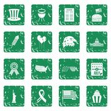 Independence day flag icons set grunge Royalty Free Stock Images
