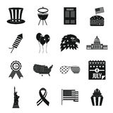 Independence day flag icons set, simple style Royalty Free Stock Photography
