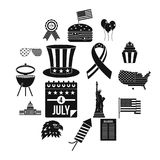 Independence day flag icons set, simple style. Independence day flag icons set. Simple illustration of 16 independence day flag vector icons for web royalty free illustration