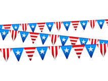 Independence day flags Stock Images