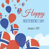Independence Day Flat Greeting Card. Royalty Free Stock Images