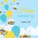 Independence Day Flat Greeting Card. Virgin Islands of the United States Independence Day. Virgin Islander Flag Balloons Patriotic Poster. Happy National Day Royalty Free Stock Images