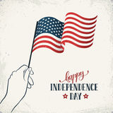 Independence day flayer Stock Image