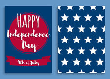Independence day. Fourth of July. United States independence day greeting card. July fourth typographic design. Vector illustration Royalty Free Illustration