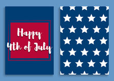 Independence day-06. Fourth of July. United States independence day greeting card. July fourth typographic design. Vector illustration Royalty Free Illustration