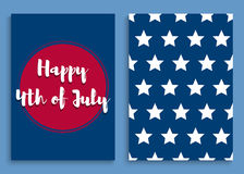 Independence day-08. Fourth of July. United States independence day greeting card. July fourth typographic design. Vector illustration Royalty Free Illustration