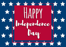 Independence day-01. Fourth of July. United States independence day greeting card. July fourth typographic design. Vector illustration Stock Illustration