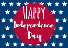 Independence day-02. Fourth of July. United States independence day greeting card. July fourth typographic design. Vector illustration Royalty Free Illustration