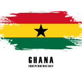 Independence Day of Ghana greeting card. Stock Image