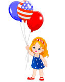 Independence Day girl Stock Image