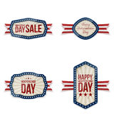 Independence Day greeting Banners Set. Vector Illustration Stock Photography