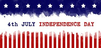 Independence Day greeting card american flag grunge background stock photos