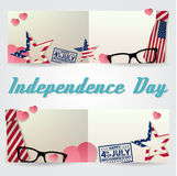 Independence day greeting card, flyer. Independence day poster. Patriotic banner for website template. Usable for 4th of July gree. Ting card, banner, background Stock Photo