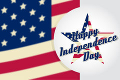 Independence day greeting card, flyer.. Independence day poster. Patriotic banner for website template. Usable for 4th of July greeting card, banner, background Stock Photo