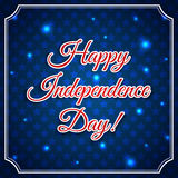 Independence day greeting card Royalty Free Stock Photography
