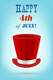 Independence day  greeting card Royalty Free Stock Images