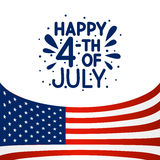 Independence day greeting card. For Your design Royalty Free Stock Image