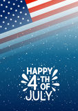 Independence day greeting card. For Your design Stock Photos