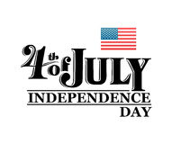 Independence day greeting vector Royalty Free Stock Photos
