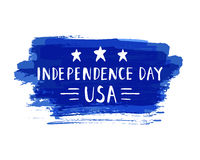 Independence Day hand drawn lettering design vector illustration perfect for advertising, poster, announcement Royalty Free Stock Photos