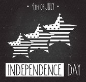 Independence Day hand drawn poster.. 4th Of July. Vector illustration Stock Photos