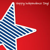 Independence Day. Happy 4th of July star card in  format Stock Images