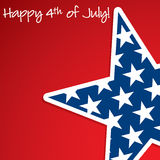 Independence Day. Happy 4th of July star card in  format Royalty Free Stock Image