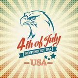 Independence Day holiday card with typography and Royalty Free Stock Photo