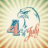 Independence Day holiday card with typography and Royalty Free Stock Images