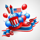 Independence Day holiday symbols. Vector Royalty Free Stock Photos