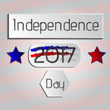 Independence Day 2017 Holiday Tag. Vector illustartion Royalty Free Stock Photos