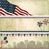 Independence Day horizontal banners illustration Stock Image