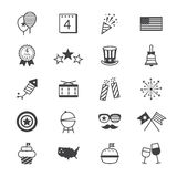 Independence Day Icons Line Royalty Free Stock Photos