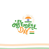 Independence day of India from the British Empire isolate sign of vector retro style logotype. Universal of Logo for Royalty Free Stock Image